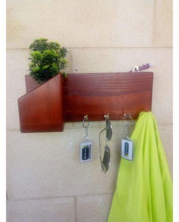 Stylish wall mounted key rack Wood