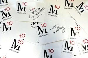 Abbildung einiger Postkarten der Aktion #Martawird10