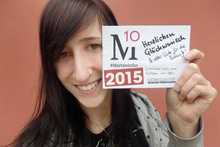 Abbildung eines #Martawird10-Selfies der Ludwiggalerie Oberhausen