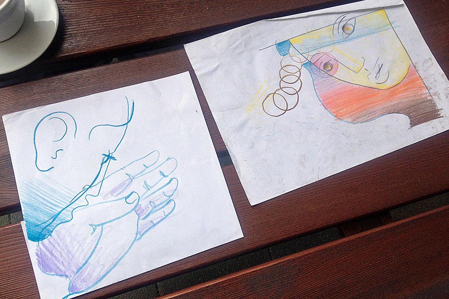 Skizze von Maliks Projekt in der Herforder Innenstadt