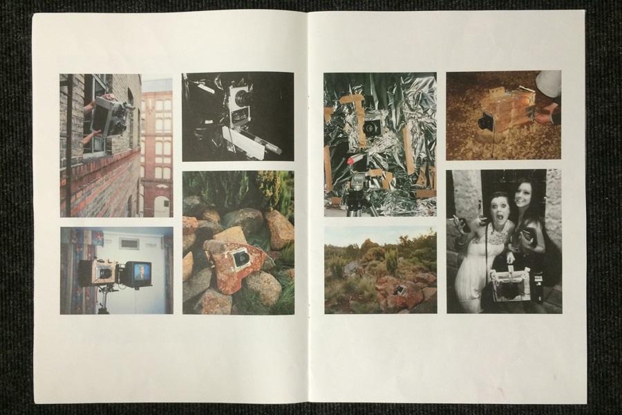 Abbildung aus der Publikation der Künstler Taiyo Onorato & Nico Krebs, welche die verschiedenen Kameraobjekte zeigt