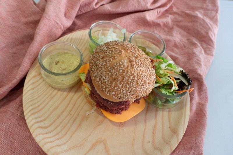 hamburguesa vegana y sin gluten