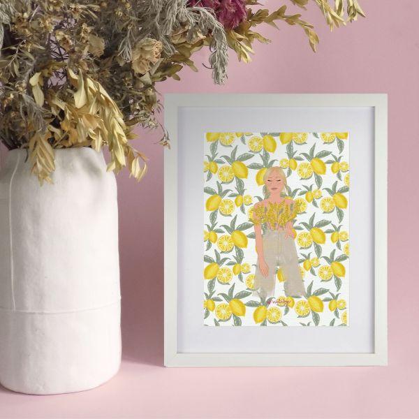 lamina decorativa frutas y flores