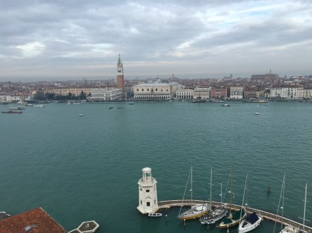 Vista de la Piazza San Marcos desde el campanile de San Giorgio Maggiore