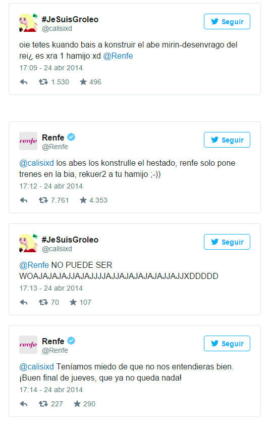 Twitter renfe community manager.