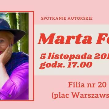 Spotkanie z Martą Fox i jej nową powieścią