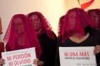 Performance en contra de los feminicidios en Chiapas