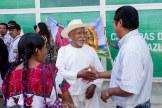El pueblo de El Bosque recibe a Patishtan en el aeropuerto de Tuxtla