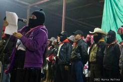 La Comandanta Hortensia lee el comunicado del EZLN en Oventic el 1 de enero de 2014