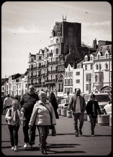 2016 Hastings Seafront Walk Victorian Buildings and Strolling Crowds small