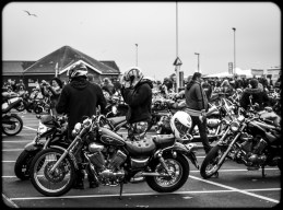 2016 Jack in the Green Motorcyclists Removing Helmets small