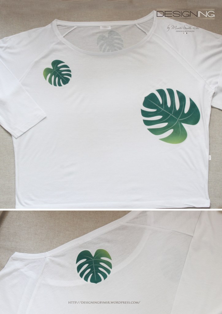 T-shirt Adam Rib Palm [modelo loose]