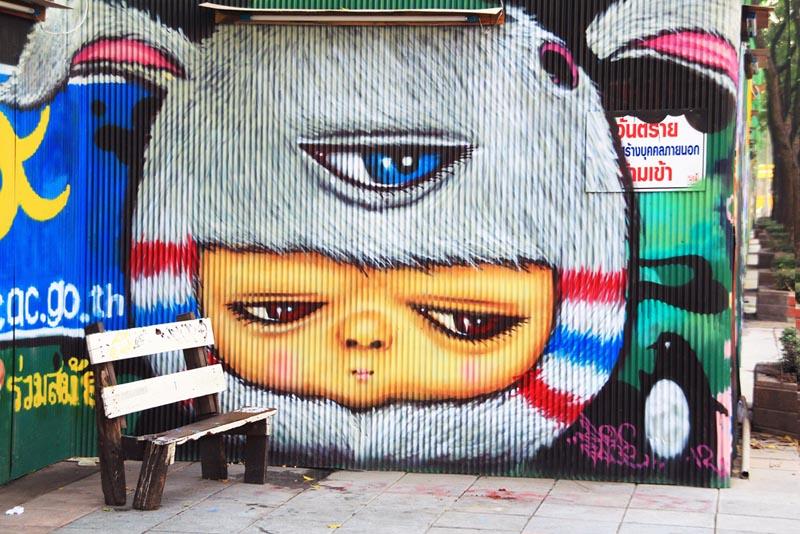 Милий стріт арт  Бангкоку