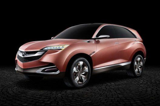 The Acura Concept SUV-X in marsala