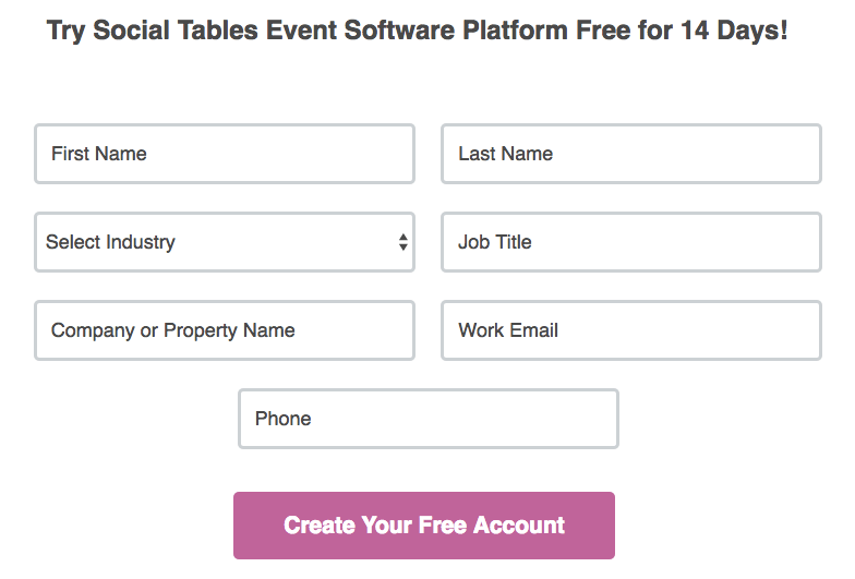 Social Tables Form