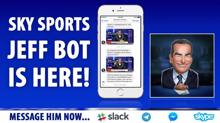 Jeff Bot: GameOn-Sky Sports Partnership to Cover English Premier League Using Chatbot