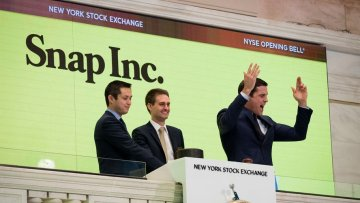 Snap Founders at NYSE via Twitter