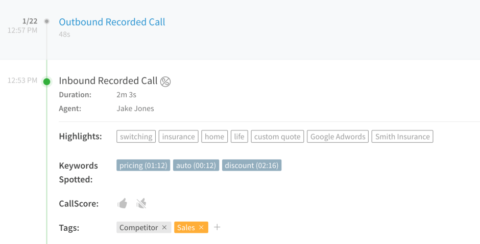 Call Highlights via CalLRail