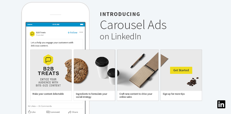 Linkedin Joins the Bandwagon; Offers Carousel Ads For Sponsored Content