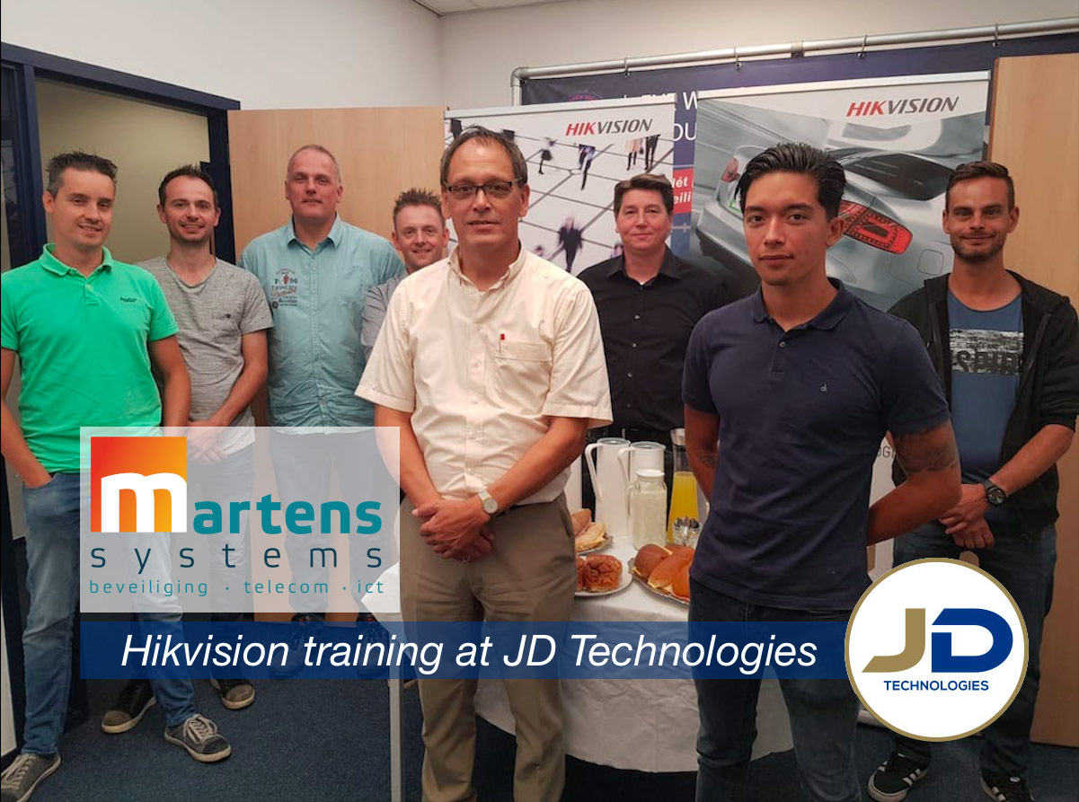 Producttraining beveiligingsapparatuur JD Technologies