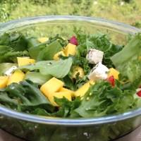 Sommerlig salat med mango og fetaost!