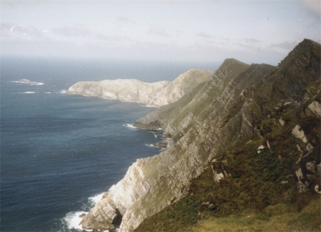 Picture of the Atlantic Ocean and Cliffs on Achill Island