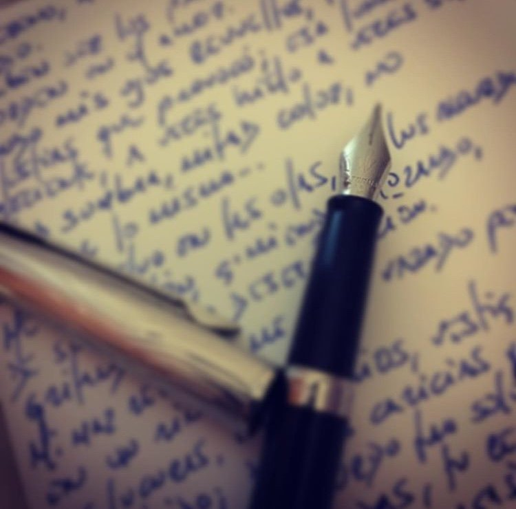 palabras escritas con estilográfica martha lovera