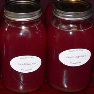 Canned Grape Juice