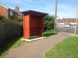 Two new bus shelters Hemsby Road