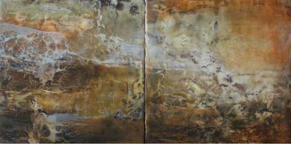 """Canyon Walls Series-Chaco Diptych                                   12"""" x 24"""""""