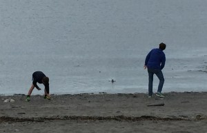 Two of my sweethearts, skipping stones
