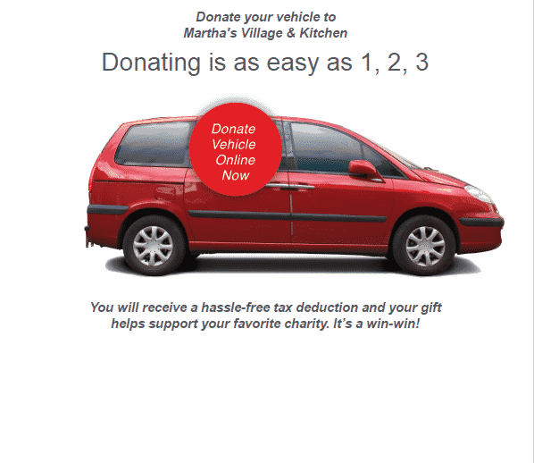 Donate Your Car >> Donate Your Car Vehicle Martha S Village And Kitchen