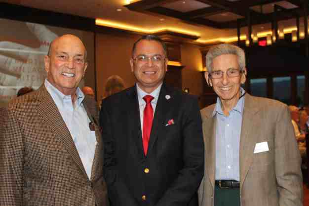 Pictured from left to right: Henry Burdick, Board Chairman -MVK, Supervisor V. Manuel Perez, Bill DeMucci, Board Treasurer –MVK