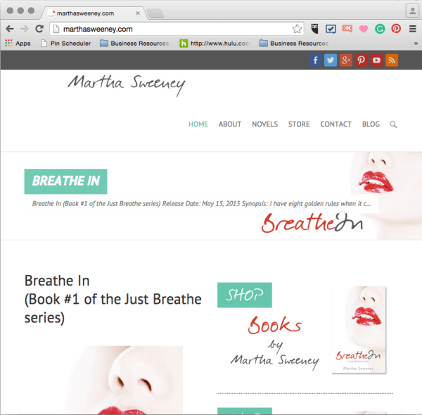 Martha Sweeney author website is live