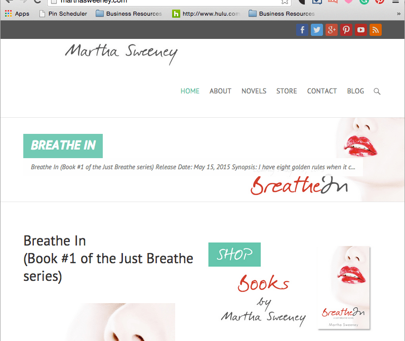 MarthaSweeney.com Website is LIVE