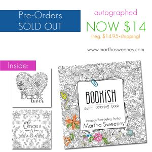 Order Bookish: Adult Coloring Book by Martha Sweeney