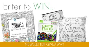 Bookish Adult Coloring Book by Martha Sweeney Newsletter Giveaway