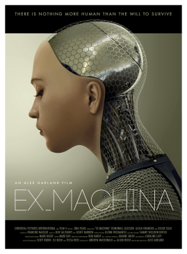 """Ava"", the AI robot in the superb film, Ex Machina (2015)"