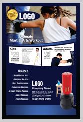Martial Arts Design Templates For Marketing Ad Cards MA000502