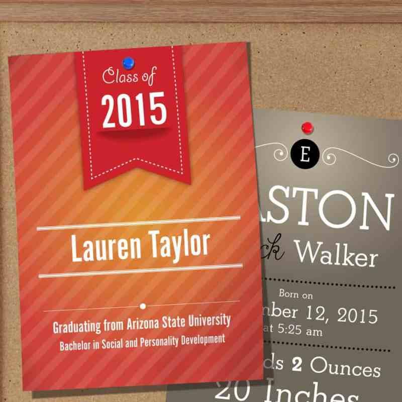 Design Studio Announcement Cards
