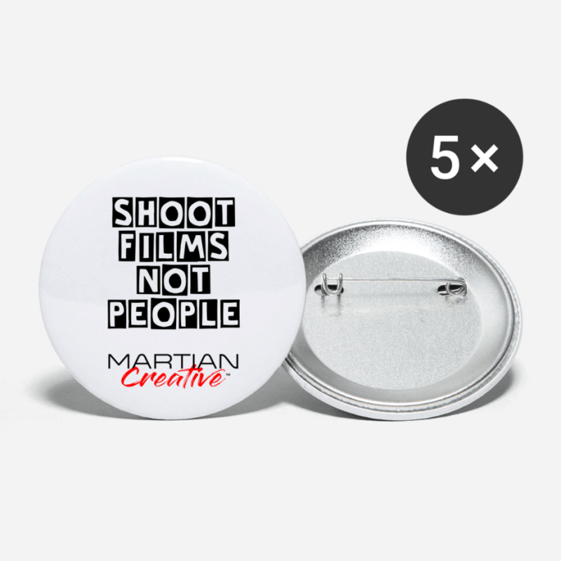 Shoot Films, Not People Political Button large 2.2'' (5-pack)