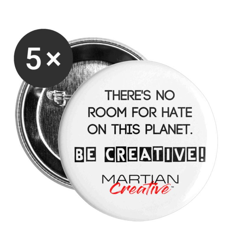 No Room for Hate  Buttons large 2.2'' (5-pack)