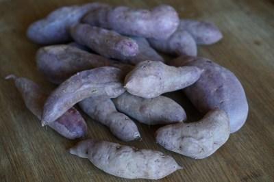 Purple Sweet Potatoes from garden