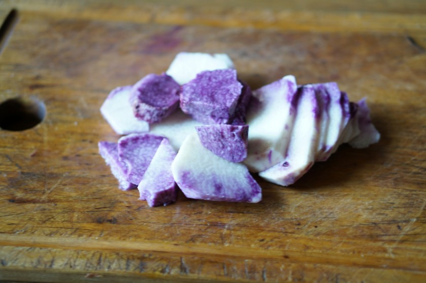 Purple Ube to make sauce