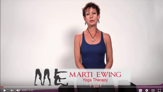 Marti Ewing Recuperative Yoga - Hip Release Video