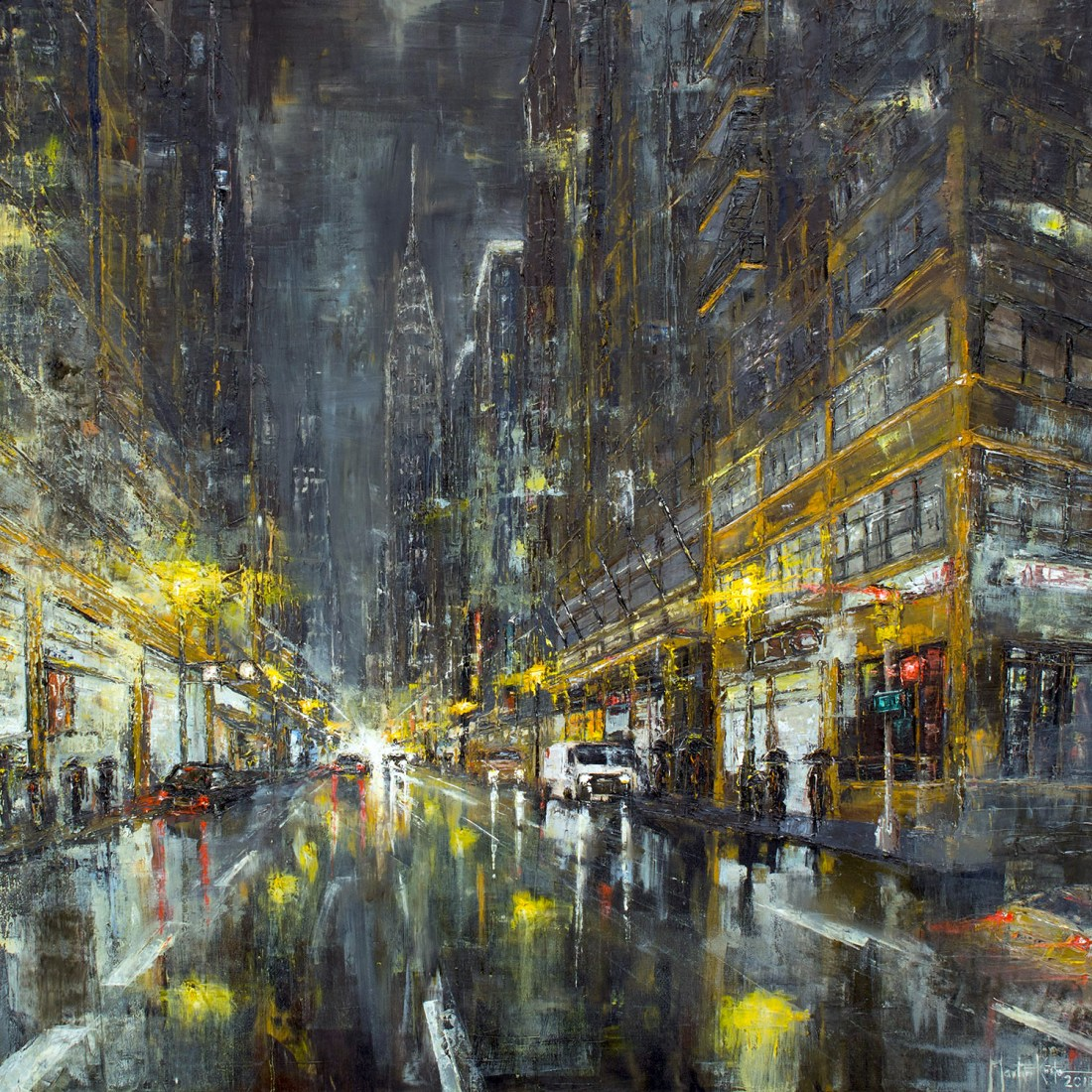NYC Night with rain 2