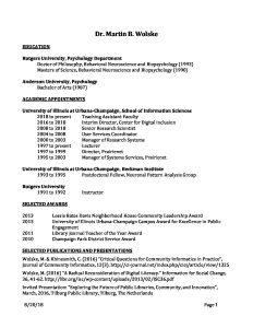 two page curriculum vita martin wolske s blog
