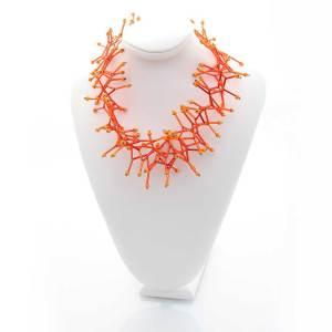 Halsketten aus Buntglas mit Perlen, Modeschmuck für Damen von Martina Groß
