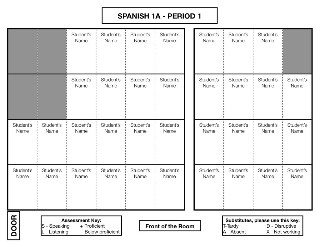 Seating Chart – The Comprehensible Classroom