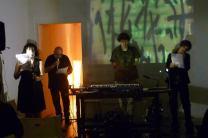 "Da le mûra di t;éb;é ai Trous"", Recital multimediale di Martina Campi, Francesca Del Moro, Mario Sboarina, Enzo Campi. settembre 2013 – Milano – GALLERIA OSTRAKON"